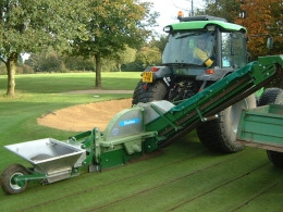 Shelton System 25 in action on golf green