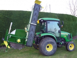 Shelton Supertrencher 450 hitched to tractor side view