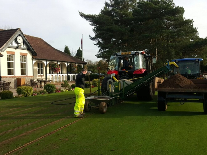 Installing Lightning Drain at Bristol and Clifton Golf Club
