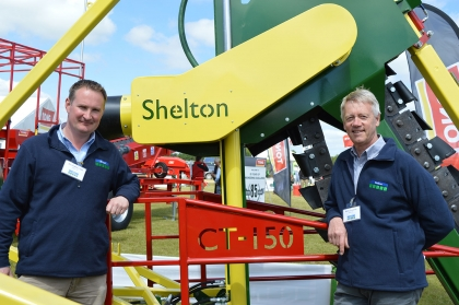 Richard Clark & Mick Claxton from Shelton Drainage with the new CT150 Chain Trencher
