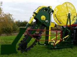 Shelton CT150 chain trencher close up