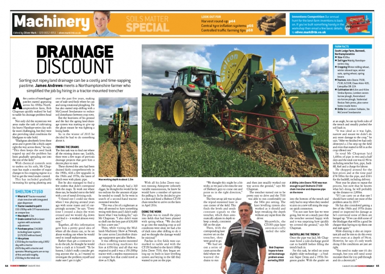 Farmers Weekly Article on DIY Drainage
