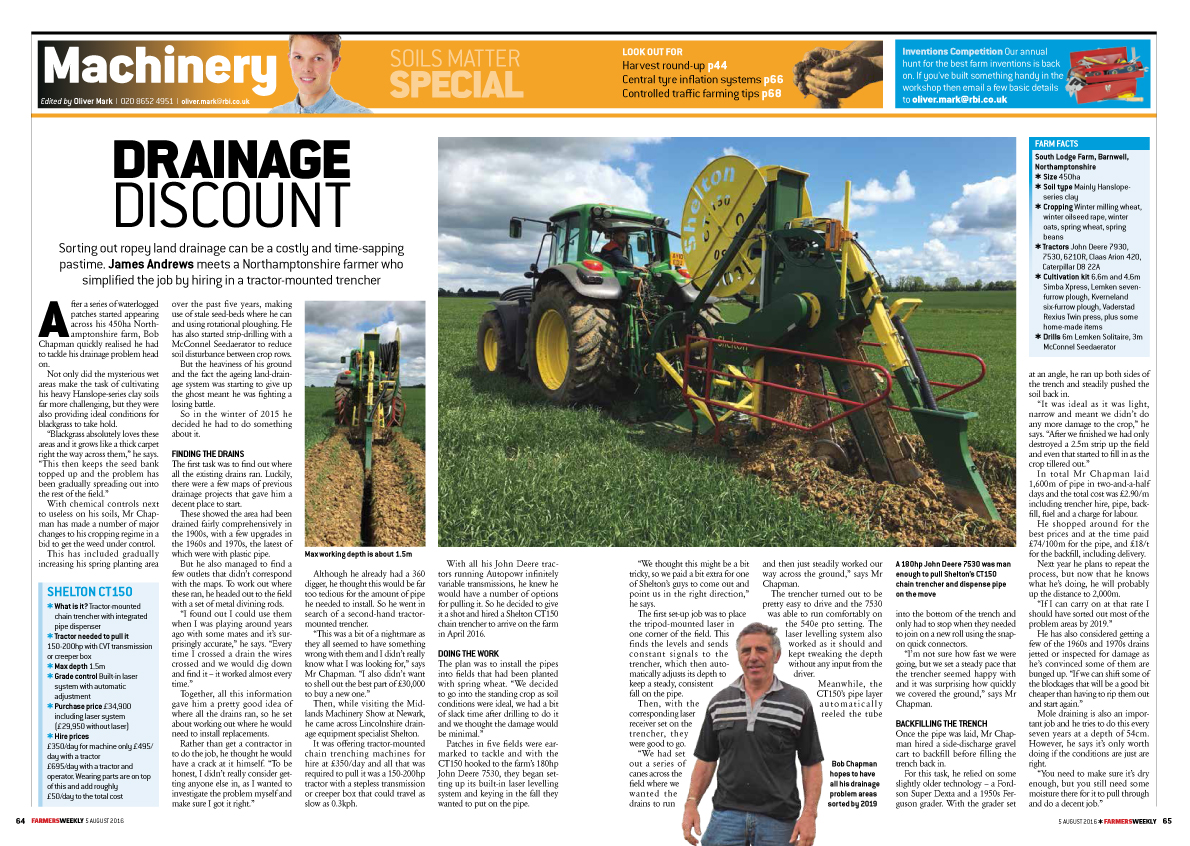 Thumbnail for Farmers Weekly - DIY Drainage Case Study
