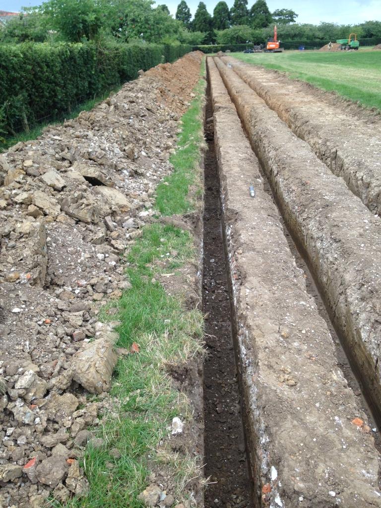 Ground Source Heat Pump installed with excavator